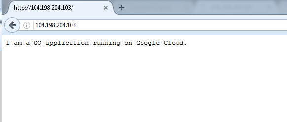 Live http Connection to Gcloud