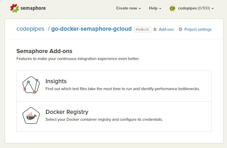 Deploying a GO application to Google Cloud via Docker and Semaphore